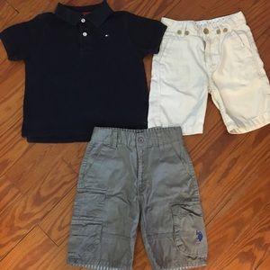 Boys Summer Bundle of a Polo & Shorts Size 5